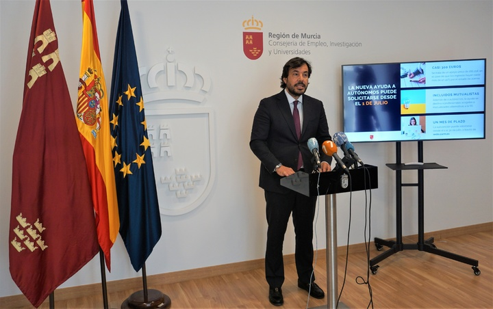 Miguel Motas anuncia la apertura a partir del 1 de julio del plazo para pedir la nueva ayuda para autónomos