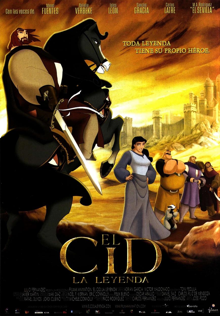Cartel de la pel cula espa ola de animaci n 39 el for La leyenda del cid