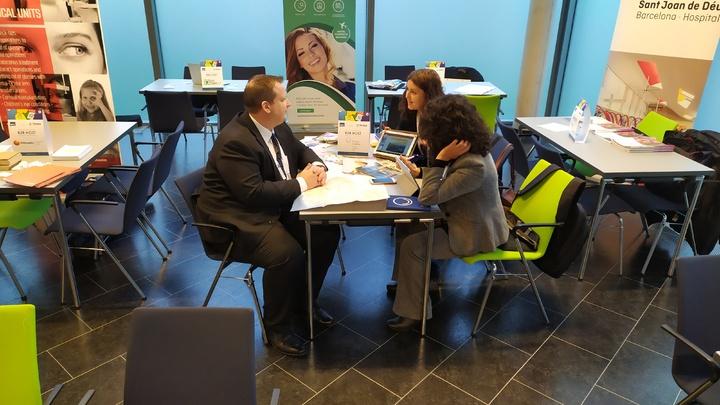 Técnicos de la Consejería de Turismo en una de las 30 reuniones de la cumbre europea de salud celebrada en Berlín