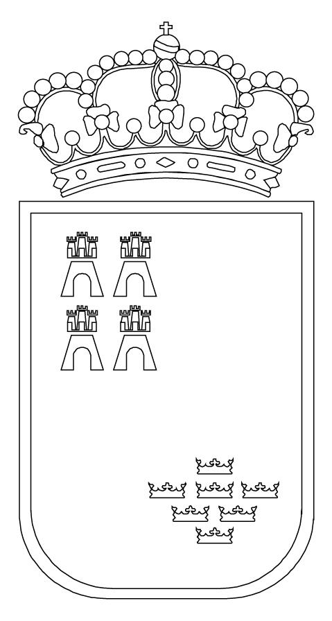CARM.es - Escudo Regional en blanco y negro